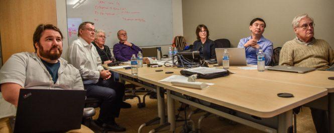 Armstrong, Tompkins, Dafoe, Davis, Tannenbaum, Xiao,Heller w Hanson on skype 2 15 19 Stanford cropped